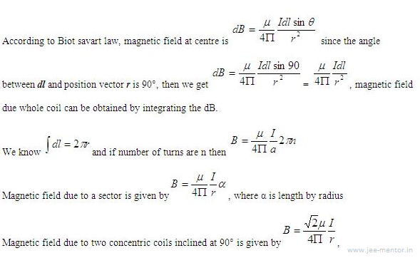 Magnetic effects of current and magnetism - JEE-Mains